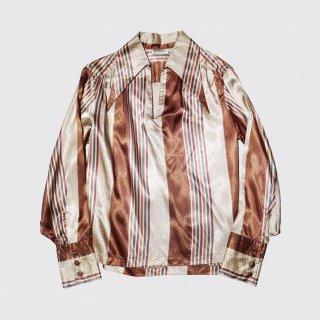 vintage geometry satin skipper shirt