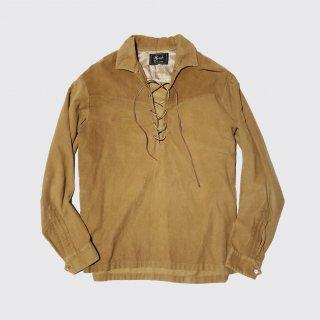 vintage faux suede skipper shirt