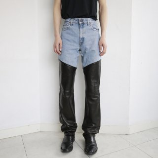 remake docking leather trousers