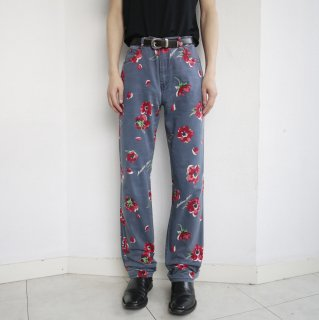 old MOSCHINO flower trousers