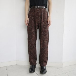 old paisley tapered trousers