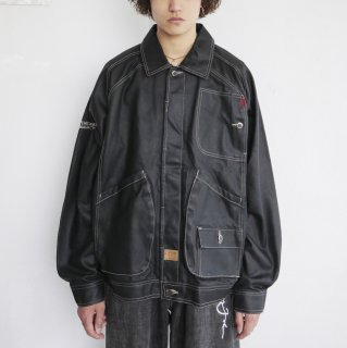 old FUBU utility coating denim jacket