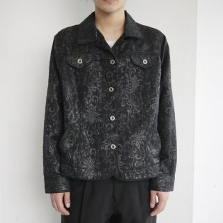 old lame jacquard trucker jacket