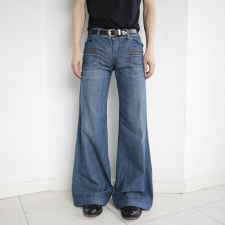 old loerize wide flare denim pants