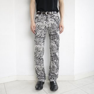 old Donna Karan botanical straight trousers