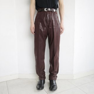 old python tapered trousers