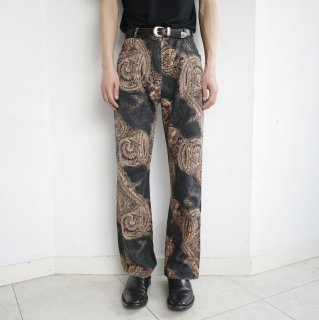 old paisley flare trousers