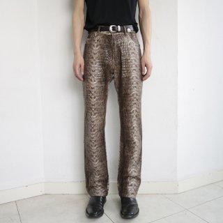 old Fubu python flare trousers