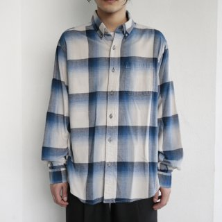 old eddie bauer ombre check shirt
