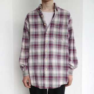 old check heavy flannel shirt