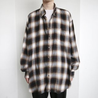 old loose ombre check shirt