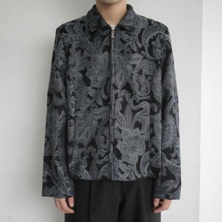 old jacquard zipped jacket