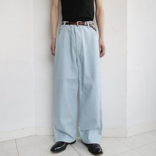 old ice wash buggy denim pants