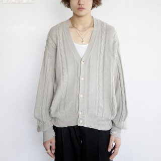 old carble cotton cardigan