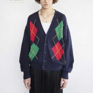 old gap argyle cotton cardigan