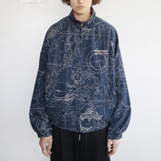 old nautica world map jacket