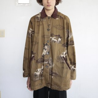 old horse pattern jacket