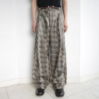 old resized wide faux python slacks