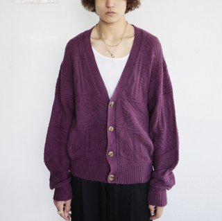 old woven pattern cotton loose cardigan