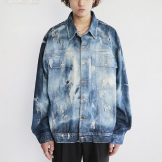 old broken trucker jacket