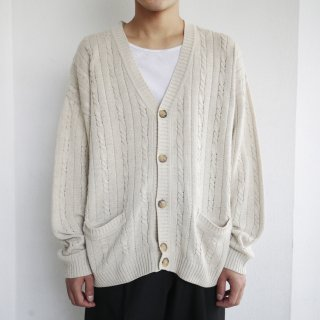 old euro cable cotton cardigan