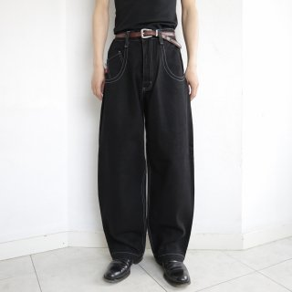 old jnco the low down stitched buggy denim pants