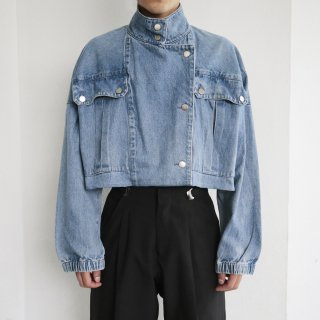 old resized short denim jacket