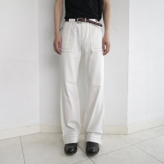 old gap jeans stitch marine flare trousers