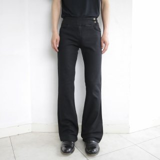 old stretch flare denim pants