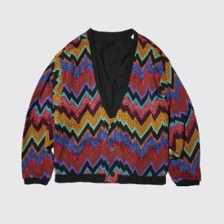 vintage crazy pattern cardigan
