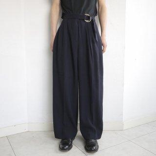 old belted wide slacks