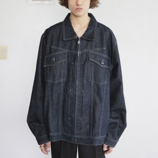 old marithe + francois girbaud x zipped trucker jacket