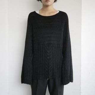 old flare sleeve cotton sweater