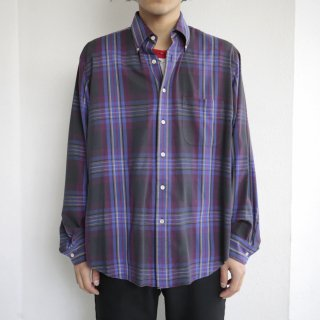 [50%OFF]old jhon henry madras check shirt