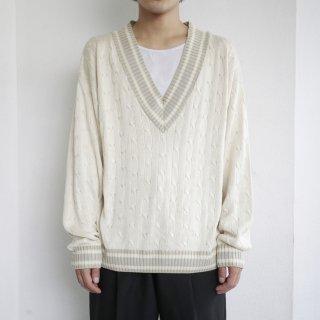 old silk tilden sweater