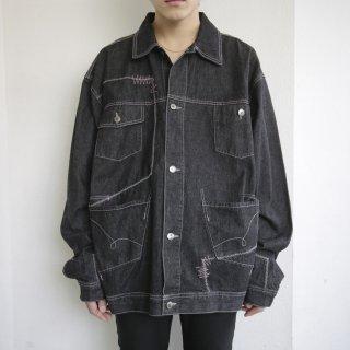 old random stitch buggy trucker jacket