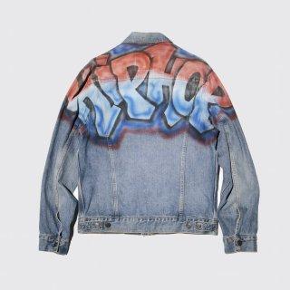 vintage spray art trucker jacket