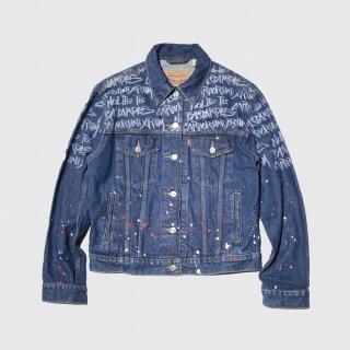 vintage graffiti trucker jacket