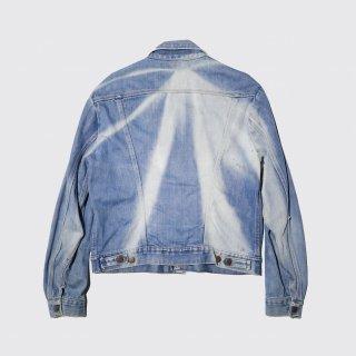 vintage wrangler fade trucker jacket