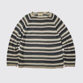 vintage border linen sweater