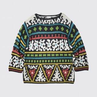 vintage crazy pattern sweater