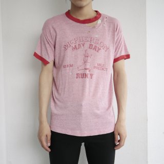 70's macpherson may day ringer tee , boro , body-russell