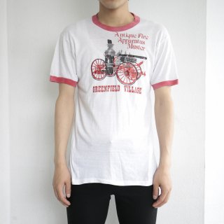 70's antique fire muster ringer tee