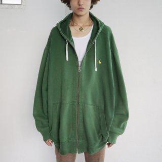 old polo ralph lauren loose zipped hoodie