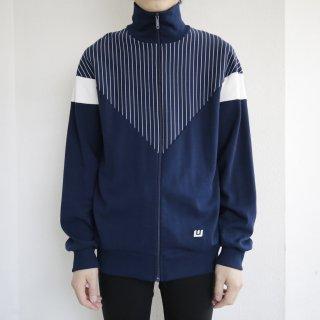 old wagner west germany stripe jersey track jacket
