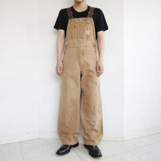 old carhartt double knee duck overall