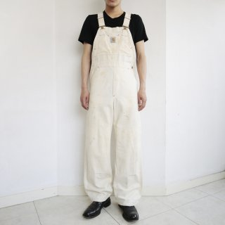 old carhartt dirty double knee duck overall