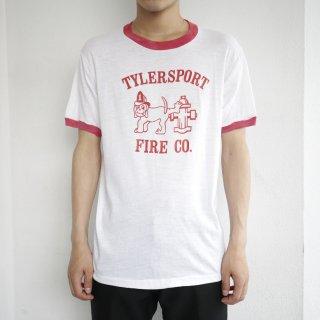 80's tylersport fire co. ringer tee , body-screen stars