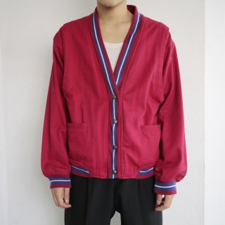[30%OFF]old cotton college cardigan