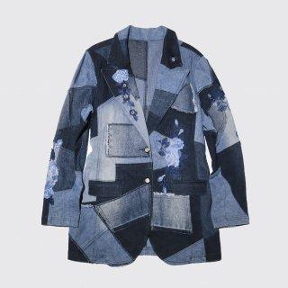 vintage broderie patchwork tailored jacket